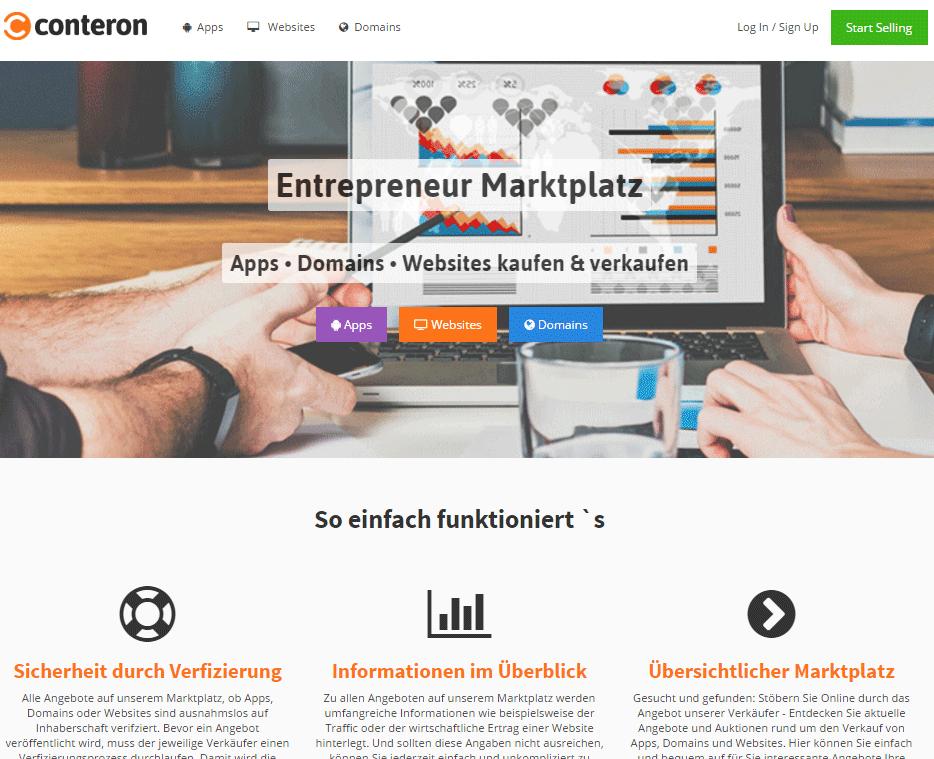 auktionsplattform f r den verkauf von apps domains und. Black Bedroom Furniture Sets. Home Design Ideas